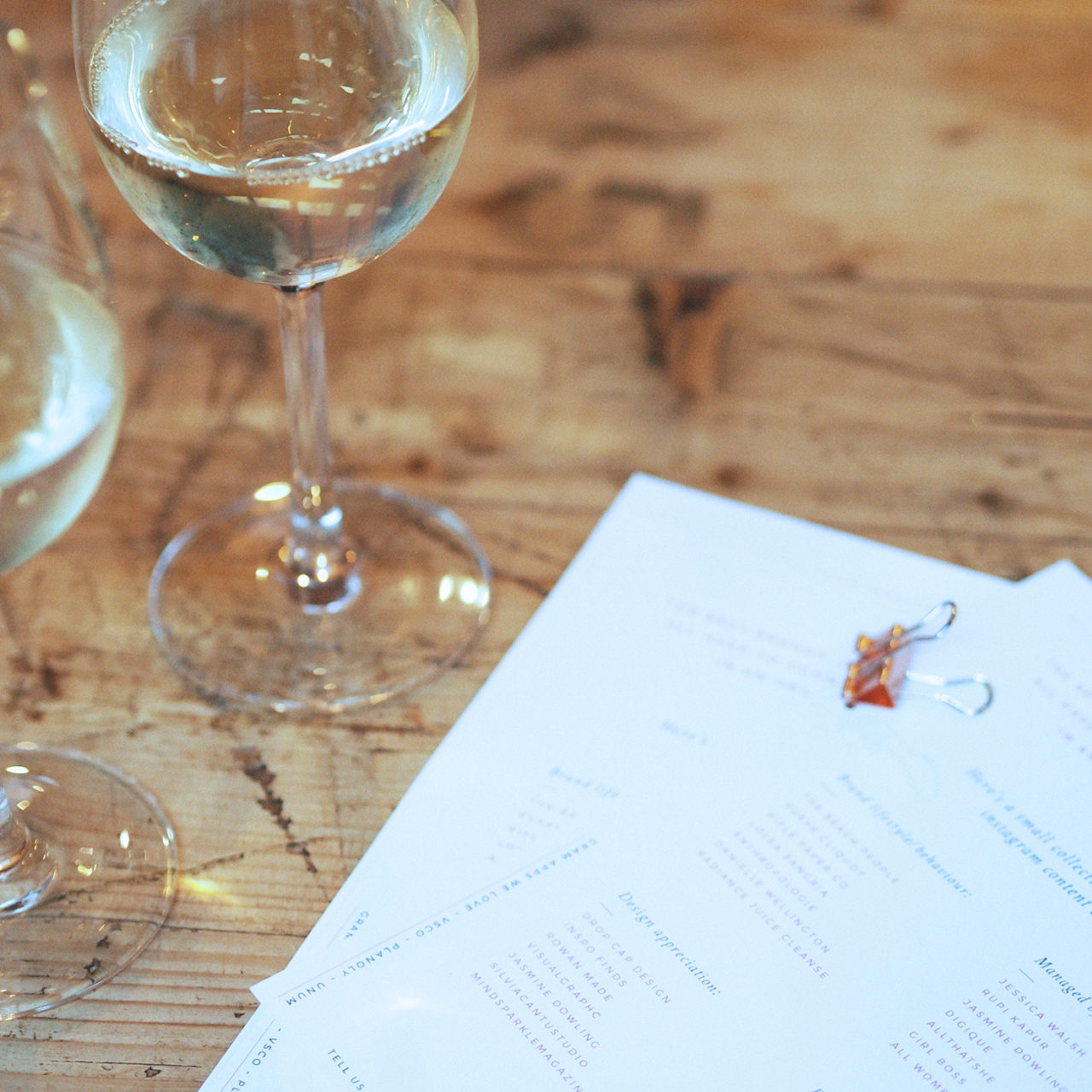 Ladies, Wine & Social Media Design